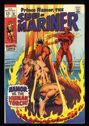 Sub-Mariner #14 VF 8.0 Death of Toro! Marvel Comics