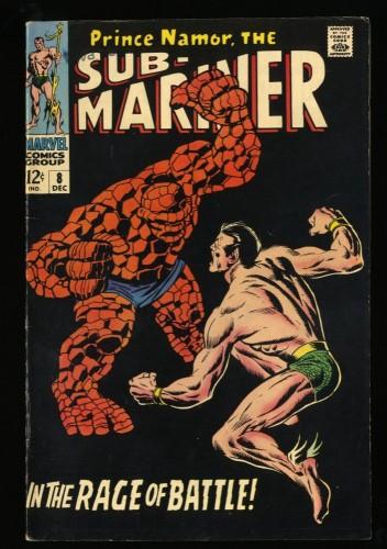 Sub-Mariner #8 FN 6.0 Vs Thing! Marvel Comics