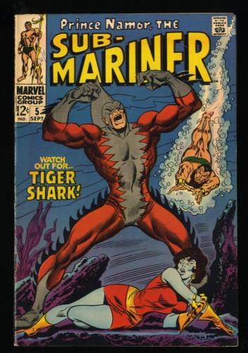Sub-Mariner #5 FN- 5.5 1st Tiger Shark! Marvel Comics