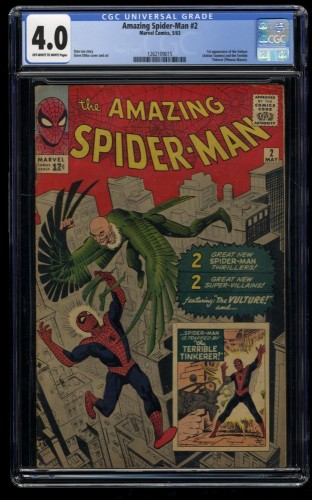 Amazing Spider-Man #2 CGC VG 4.0 Off White to White 1st Vulture!
