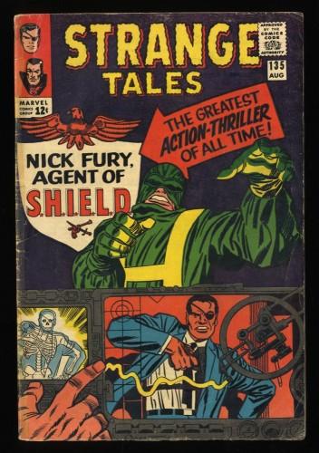 Strange Tales #135 VG- 3.5 1st Nick Fury! Shield!