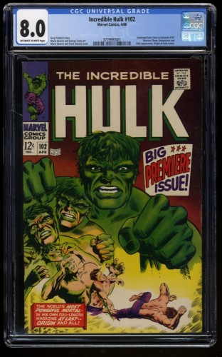 Incredible Hulk (1968) #102 CGC VF 8.0 Off White to White Marvel Comics