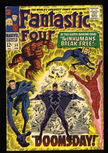 Fantastic Four #59 VF- 7.5 Marvel Comics