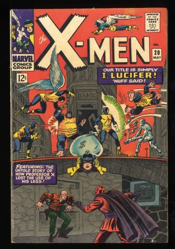 X-Men #20 VG+ 4.5 Marvel Comics