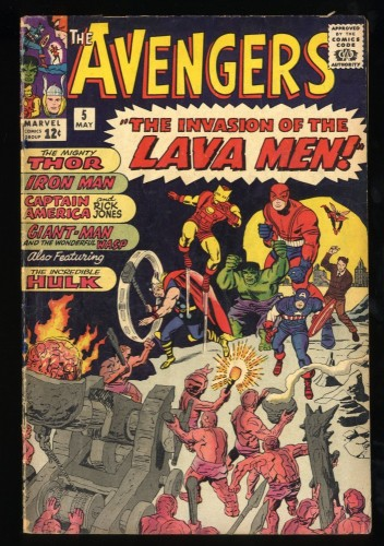 Avengers #5 VG- 3.5 (Restored) Marvel Comics Thor Captain America