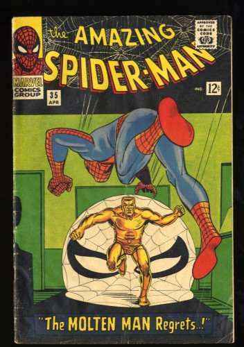 Amazing Spider-Man #35 VG- 3.5 Meteor Man! Marvel Comics Spiderman