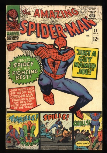 Amazing Spider-Man #38 VG+ 4.5 2nd Mary Jane!  Last Ditko issue!