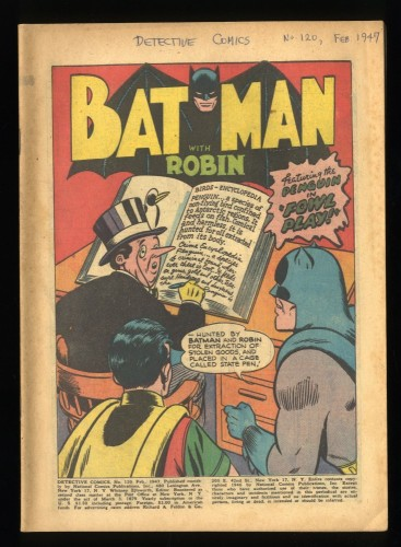 Detective Comics #120 CV 0.1 Classic Penguin Cover!