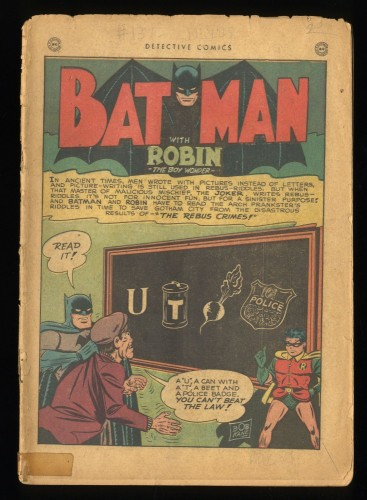Detective Comics #137 CV 0.1 Joker cover and story!