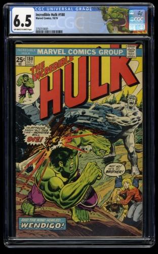 Incredible Hulk (1962) #180 CGC FN+ 6.5 1st Print 1st Cameo Wolverine!