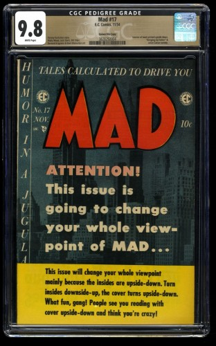 Mad #17 CGC NM/M 9.8 White Pages Gaines File Copy 1st Print