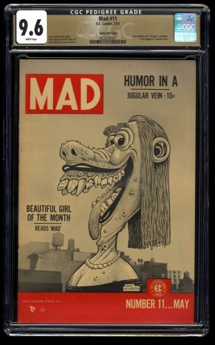 Mad #11 CGC NM+ 9.6 White Pages Gaines File Copy 1st Print