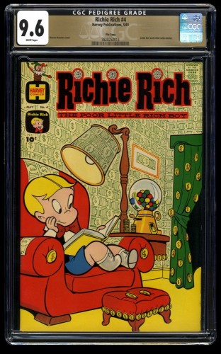 Richie Rich #4 CGC NM+ 9.6 White Pages File Copy