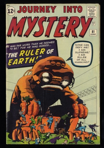 Journey Into Mystery #81 VG/FN 5.0