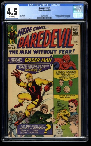 Daredevil #1 CGC VG+ 4.5 Off White Incredible Eye Appeal!