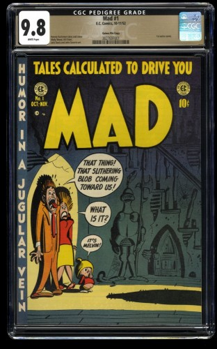 Mad #1 CGC NM/M 9.8 White Pages Highest Graded Copy! Gaines File Copy