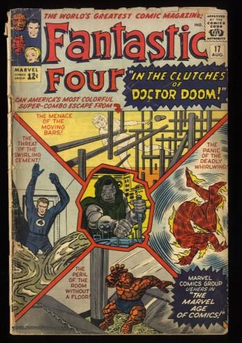 Fantastic Four #17 Fair 1.0 Doctor Doom!