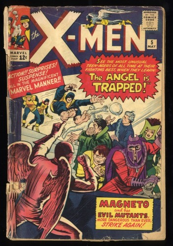 X-Men #5 FA/GD 1.5 3rd Magneto! 2nd Scarlet Witch!