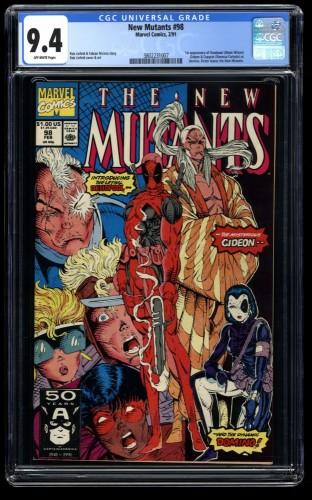New Mutants #98 CGC NM 9.4 Off White 1st Deadpool!