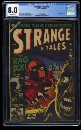 Strange Tales #19 CGC VF 8.0 Off White