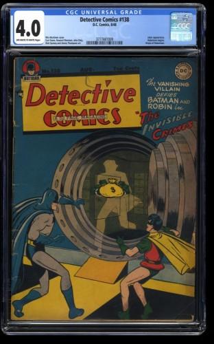 Detective Comics #138 CGC VG 4.0 Off White to White