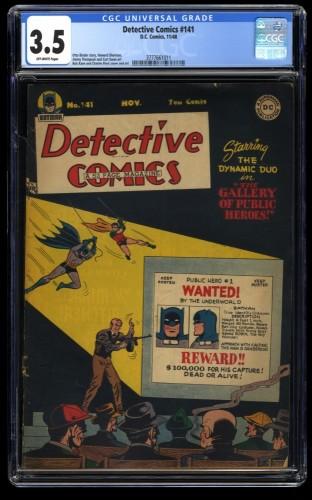 Detective Comics (1937) #141 CGC VG- 3.5 Off White