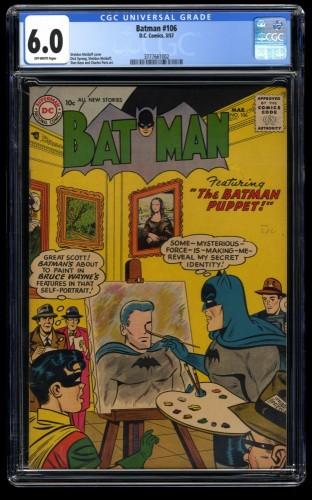 Batman #106 CGC FN 6.0 Off White