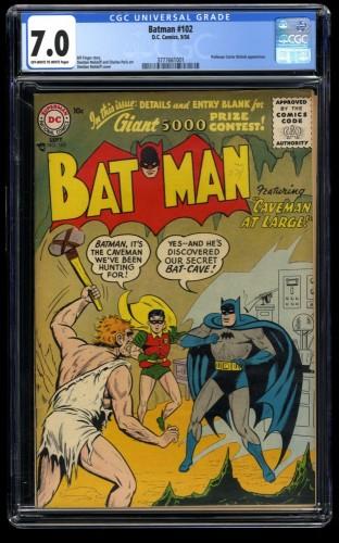 Batman #102 CGC FN/VF 7.0 Off White to White