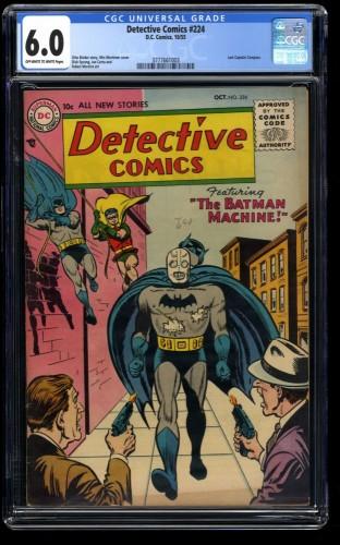 Detective Comics (1937) #224 CGC FN 6.0 Off White to White