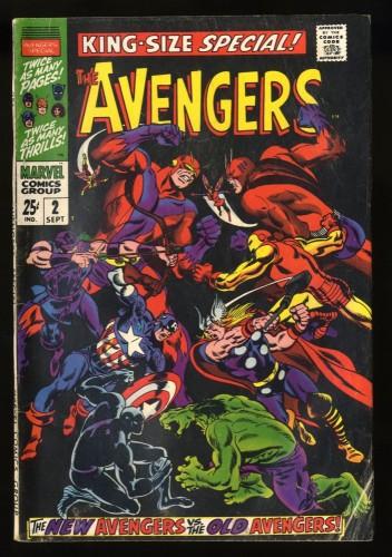 Avengers Annual #2 VG 4.0 1st Scarlet Centurion!