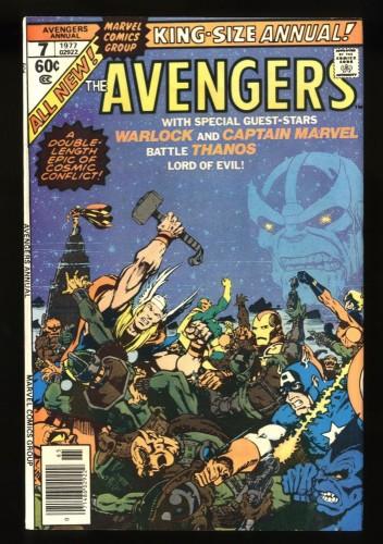 Avengers Annual #7 FN+ 6.5 Thanos Death of Adam Warlock!