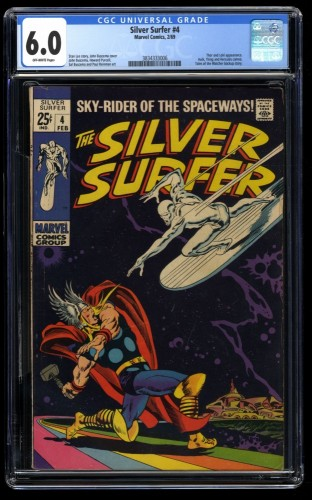 Silver Surfer #4 CGC FN 6.0 Off White vs Thor!