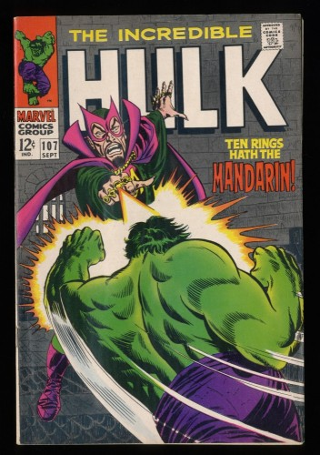Incredible Hulk (1962) #107 FN/VF 7.0 1st Print Mandarin!