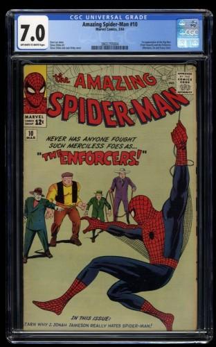 Amazing Spider-Man #10 CGC FN/VF 7.0 Off White to White
