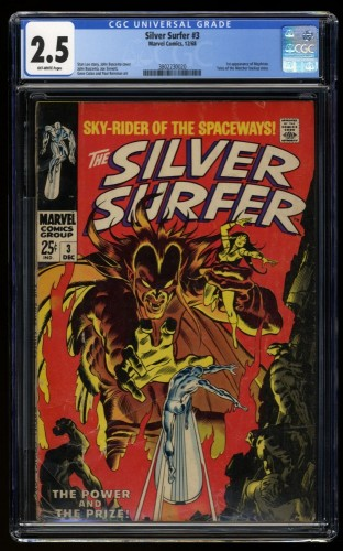 Silver Surfer #3 CGC GD+ 2.5 Off White 1st Mephisto!