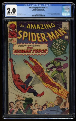 Amazing Spider-Man #17 CGC GD 2.0 Off White to White 2nd Green Goblin!