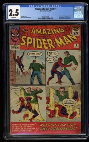 Amazing Spider-Man #4 CGC GD+ 2.5 White Pages 1st Sandman!