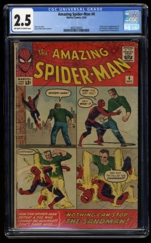 Amazing Spider-Man #4 CGC GD+ 2.5 Off White to White 1st Sandman!