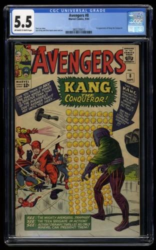 Avengers #8 CGC FN- 5.5 Off White to White 1st Kang!