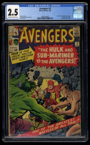 Avengers #3 CGC GD+ 2.5 Off White to White