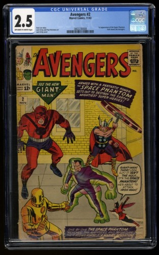 Avengers #2 CGC GD+ 2.5 Off White to White