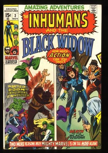Amazing Adventures #3 VF- 7.5 Black Widow Inhumans!