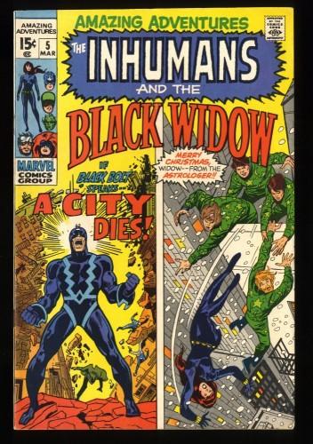 Amazing Adventures #5 VF 8.0 Inhumans Black Widow!