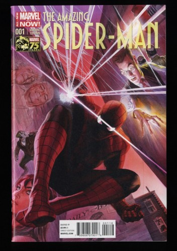 Amazing Spider-Man (2014) #1 NM+ 9.6 1:75 Alex Ross Variant 1st Cindy Moon!