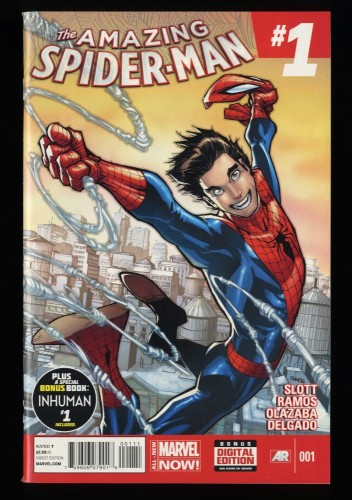 Amazing Spider-Man (2014) #1 NM+ 9.6 1st Cindy Moon!