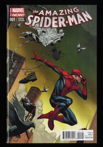 Amazing Spider-Man (2014) #1 NM+ 9.6 1:75 Opena Variant 1st Cindy Moon!