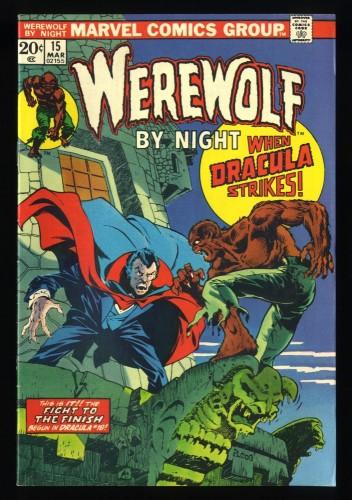 Werewolf By Night #15 VF- 7.5 Dracula!