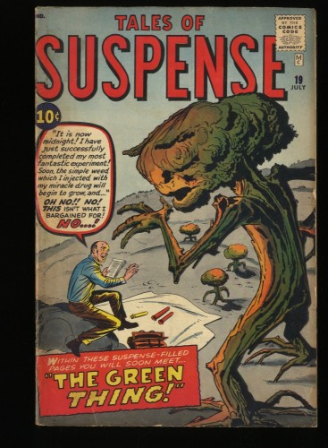 Tales Of Suspense #19 VG 4.0 Pre-Hero The Green Thing!