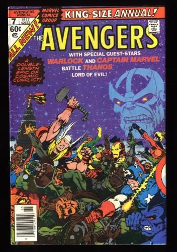 Avengers Annual #7 VF 8.0 Thanos Death of Adam Warlock!