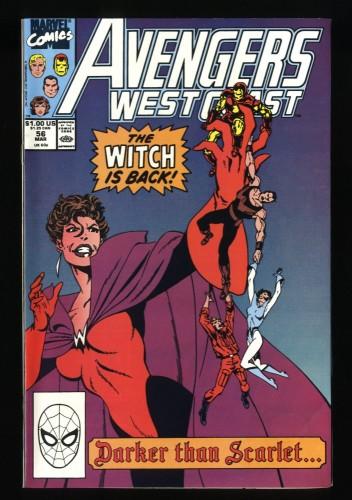 West Coast Avengers #56 NM+ 9.6 1st Dark Scarlet Witch!